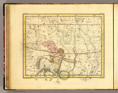 (Sagittarius). (Published, February 1, 1822, by G. & W.B. Whittaker, T. Cadell & N. Hailes, London). Drawn by A. Jamieson for 1820. Neele & Son, sc, 352 Strand.
