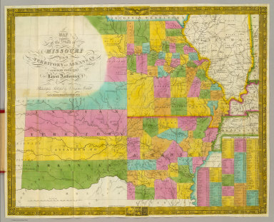 Map of the state of Missouri and territory of Arkansas compiled from the latest authorities. Philadelphia, published by S. Augustus Mitchell. 1836. Sold by Mitchell & Hinman, No. 6 North Fifth Street. Entered ... 1835, by S. Augustus Mitchell ... Pennsylvania.