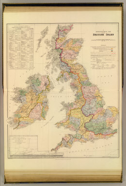 A hydrographical map of the British Isles. (with) Diagram showing the comparative fall of the principal rivers of the British Isles. London atlas series. Stanford's Geographical Establishment. London : Edward Stanford, 12, 13 & 14, Long Acre, W.C. (1901)