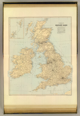 A railway map of the British Isles. London atlas series. Stanford's Geographical Establishment. London : Edward Stanford, 12, 13 & 14, Long Acre, W.C. (1901)
