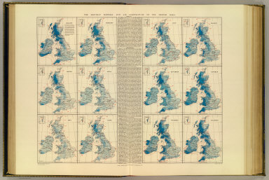 The monthly rainfall and air temperature of the British Isles. Alexander Buchan, F.M.S. &c. London atlas series. Stanford's Geogl. Estabt. London : Edward Stanford, 26 & 27 Cockspur St., Charing Cross, S.W. (1901)