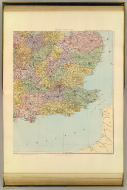 (England and Wales). England, south-east. London atlas series. Stanford's Geographical Establishment. London : Edward Stanford, 12, 13 & 14, Long Acre, W.C. (1901)
