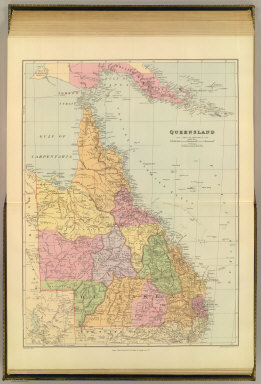 Queensland. London atlas series. Stanford's Geographical Establishment. London : Edward Stanford, 26 & 27, Cockspur St., Charing Cross, S.W. (1901)