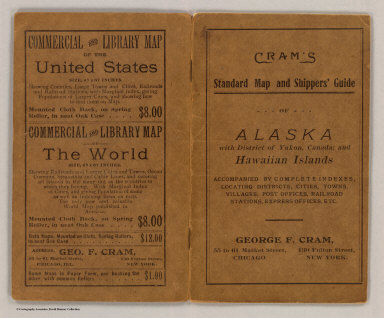 (Covers to) Alaska. Published by Geo. F. Cram, Chicago, Ill. (on verso) Map of the territory of Hawaii. Published by Geo. F. Cram. (with) Minor U.S. possessions in the Pacific Ocean. Compiled from the latest surveys by Eugene Murray Aaron. (1901?)
