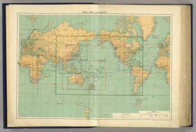 Index map to charts. George Philip & Son, Ltd. The London Geographical Institute. (1922)