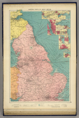 Eastern ports of Great Britain. George Philip & Son, Ltd. The London Geographical Institute. (1922)