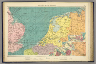 Southern North Sea ports. George Philip & Son, Ltd. The London Geographical Institute. (1922)
