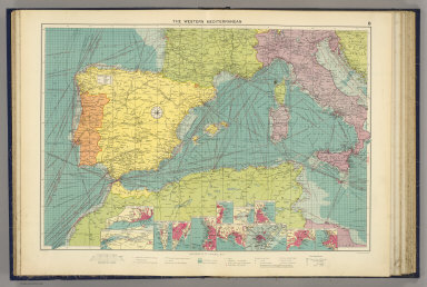 The Western Mediterranean. George Philip & Son, Ltd. The London Geographical Institute. (1922)
