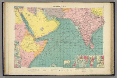 The Arabian Sea. George Philip & Son, Ltd. The London Geographical Institute. (1922)