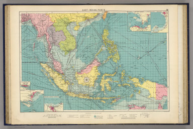 East Indian ports. George Philip & Son, Ltd. The London Geographical Institute. (1922)