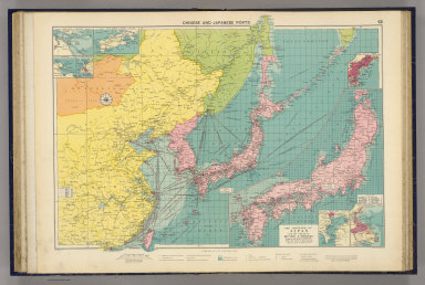 Chinese and Japanese ports. (with) The mainland of Japan with the islands of Kiushiu & Shikoku. George Philip & Son, Ltd. The London Geographical Institute. (1922)