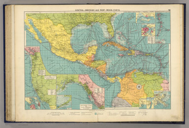 Central American and West Indian ports. (with) The Pacific Coast from San Diego to Vancouver. (with) The Pacific Coast from Seattle to Dutch Harbor. George Philip & Son, Ltd. The London Geographical Institute. (1922)