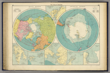 The Polar Regions. George Philip & Son, Ltd. The London Geographical Institute. (1922)