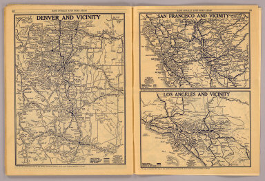Denver and vicinity. San Francisco and vicinity. Los Angeles and vicinity. Copyright by Rand McNally & Co., Chicago, Ill. (1927)