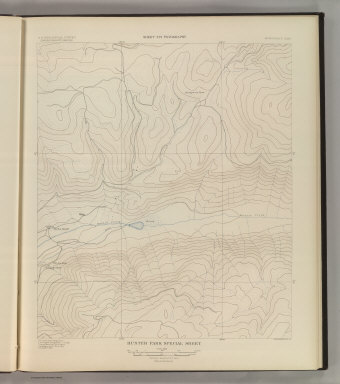 Hunter Park Special Sheet. Sheet XVI Topography. U. S. Geological Survey, Charles D. Walcott, Director. Monograph XXXI. A.H. Thompson, Geographer. F.M Douglas, Topographer in charge. Triangulation by E.M. Douglas. Topography by R.C. McKinney. Surveyed in 1893. Julius Bien & Co. Lith. N.Y. (1898)