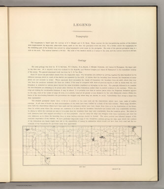 (Legend to) Department Of The Interior, United States Geological Survey, Charles D. Walcott, Director. Atlas To Accompany Monograph XXVIII On The Marquette Iron-Bearing District Of Michigan By Charles Richard Van Hise And William Shirley Bayley With A Chapter On The Republic Through By Henry Lloyd Smyth. Washington 1896. Julius Bien & Co. Lith. N.Y.