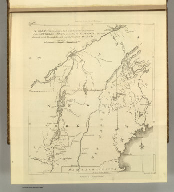 A Map of the Country which was the Scene of Operations of the Northern Army, including Wilderness through which General Arnold marched to attack Quebec. Plate VI. Engraved by F. Shallus. Published by C.P. Wayne. Philada. (1807)