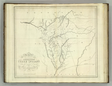 Map of the Country belonging to the Cherokee and Creek Indians From the Original Drawing in the War Department. J. Melish del. (1824)