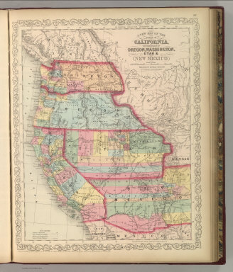 A New Map of the States of California, the Territories of Oregon, Washington, Utah & New Mexico. Published By Charles Desilver, No. 714 Chestnut Street, Philadelphia. Entered according to Act of Congress in the year 1856 by Charles Desilver in the Clerk's office if the District Court of the Eastern District of Pennsylvania. 37.