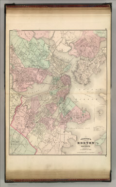Johnson's Boston and Vicinity. Published by A. J. Johnson, New York. 36. 37. Entered according to the Act of Congress, in the year 1870, by A.J. Johnson in the Clerk's Office of the District Court of the United States for the Southern District of New York.