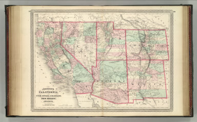 Johnson's California, Utah, Nevada, Colorado, New Mexico, and Arizona. Published by A. J. Johnson, New York. 79. 80. Entered according to the Act of Congress, in the year 1864, by A.J. Johnson in the Clerk's Office of the District Court of the United States for the Southern District of New York.