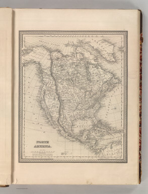 North America. Philadelphia, Published By S. Augustus Mitchell, N.E. corner of Market & 7th Streets. 1848. Entered according to Act of Congress in the 1846, by H.N. Burroughs, - in the Clerk's Office of the District Court of the Eastern District of Pennsylvania. 2.