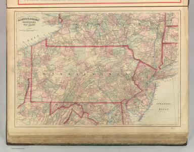 Asher & Adams' Pennsylvania and New Jersey. Entered according to Act of Congress 1874 by Asher & Adams in the Office of the Librarian of Congress at Washington.