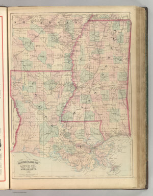 Asher & Adams' Louisiana and Mississippi. Entered according to Act of Congress 1870 by Asher & Adams in the Office of the Librarian of Congress at Washington.