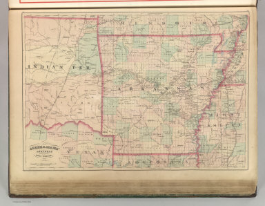 Asher & Adams' Arkansas and portion of Indian Territory. Entered according to Act of Congress 187? by Asher & Adams in the Office of the Librarian of Congress at Washington. (1875)