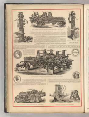 Wood Working Machinery, Represented by C. B. Rogers & Co. (1875)