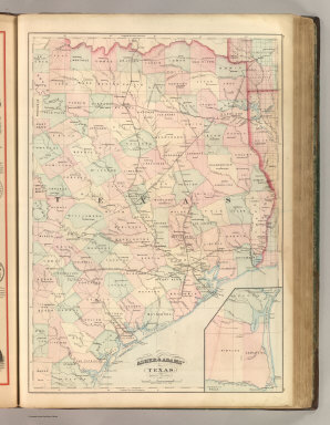 Asher & Adams' Texas, Eastern Portion. Entered according to Act of Congress 187? by Asher & Adams in the Office of the Librarian of Congress at Washington. (1875)