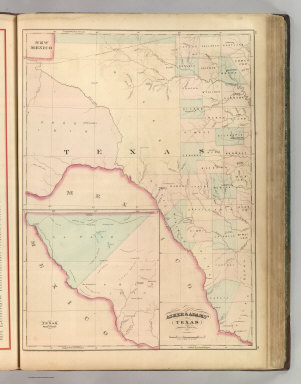 Asher & Adams' Texas, Western Portion. Entered according to Act of Congress 1874 by Asher & Adams in the Office of the Librarian of Congress at Washington.