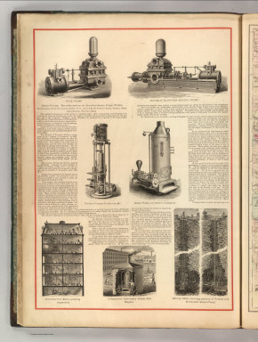 Steam Pumps. Manufactured by the Knowles Steam Pump Works, Warehouses, 92 & 94 Liberty Street, N.Y. .... (1875)