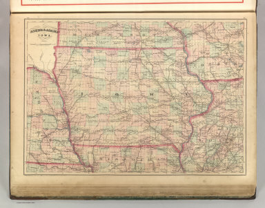 Asher & Adams' Iowa. Entered according to Act of Congress 1875 by Asher & Adams in the Office of the Librarian of Congress at Washington.