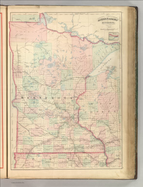 Asher & Adams' Minnesota. Entered according to Act of Congress 1874 by Asher & Adams in the Office of the Librarian of Congress at Washington.