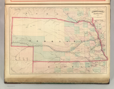 Asher & Adams' Nebraska. Entered according to Act of Congress 1875 by Asher & Adams in the Office of the Librarian of Congress at Washington.