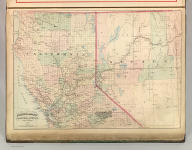 Asher & Adams' California and Nevada. North Portion. Entered according to Act of Congress 187? by Asher & Adams in the Office of the Librarian of Congress at Washington. (1875)
