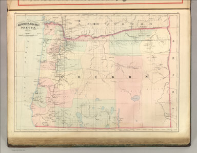 Asher & Adams' Oregon. Entered according to Act of Congress 1874 by Asher & Adams in the Office of the Librarian of Congress at Washington.