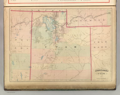 Asher & Adams' Utah. Entered according to Act of Congress 187? by Asher & Adams in the Office of the Librarian of Congress at Washington. (1875)