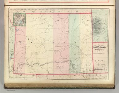 Asher & Adams' Wyoming. Entered according to Act of Congress 1874 by Asher & Adams in the Office of the Librarian of Congress at Washington.