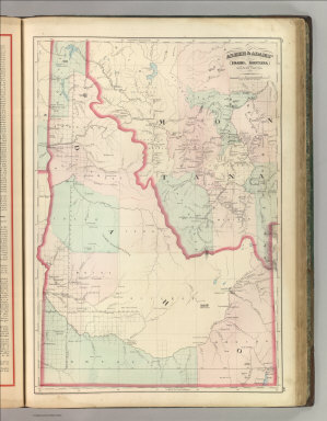 Asher & Adams' Idaho, Montana Western Portion. Entered according to Act of Congress 1874 by Asher & Adams in the Office of the Librarian of Congress at Washington.