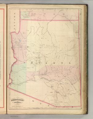 Asher & Adams' Arizona. Entered according to Act of Congress 1874 by Asher & Adams in the Office of the Librarian of Congress at Washington.