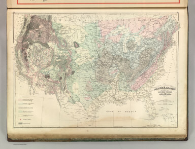 Asher & Adams' Geological Map of the United States and Territories. Entered according to Act of Congress 1874 by Asher & Adams in the Office of the Librarian of Congress at Washington.