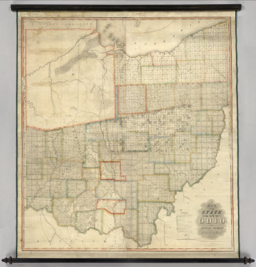 A Map of the State of Ohio from Actual Suy by B. Hough & A. Bourne. Eng'd. by H.S. Tanner Philada. Entered ... 27th day of June, 1814, by B. Hough and A. Bourne, of the State of Ohio. Chillicothe: Published 1st May 1815, by B. Hough & A. Bourne, and J. Melish, Philadelphia.