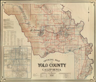Official Map of Yolo County California Compiled from Official Records by A.G. Proctor, County Surveyor, 1926.