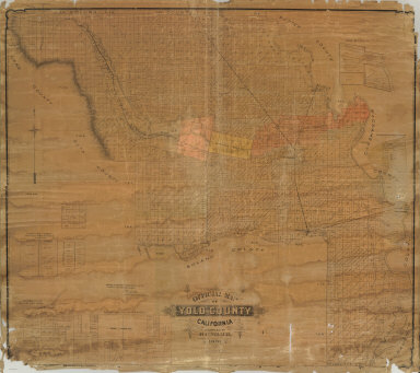 Official Map of Yolo County, California, Compiled and Pulished by H.C. Miller. 1891. Price $10.00.