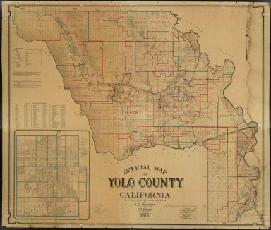 Official Map of Yolo County, California, Compiled from Official Records by A.G. Proctor, County Surveyor and C.O. Dingle, Licensed Surveyor and Draftsman, 1915.