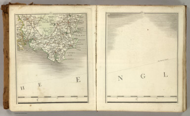 (Cary's New Map of England And Wales, With Part Of Scotland). Sheets 3-4.