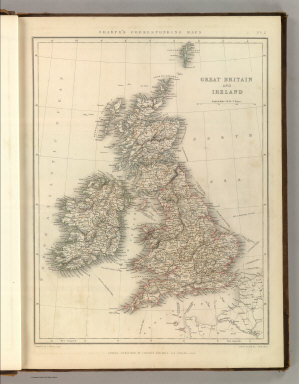 Sharpe's Corresponding Maps. Great Britain and Ireland. Engraved by J. Wilson Lowry. London - Published by Chapman and Hall, 186 Strand, 1847. Divisional Series.