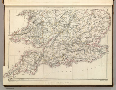 Sharpe's Corresponding Maps. England and Wales Railway Map (southern half). Engraved by J. Wilson Lowry. London - Published by Chapman and Hall, 186 Strand, 1847. Enlarged Series.